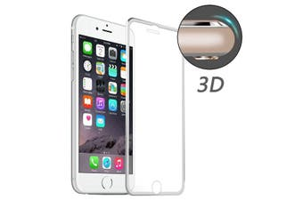 For iPhone 8,7 Screen Protector,High-Quality 3D Tempered Glass Cover,Silver