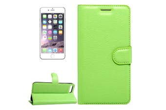 For iPhone SE (2020) / 8 / 7 Wallet Case,Lychee Protective Leather Cover,Green