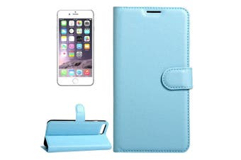 For iPhone SE (2020) / 8 / 7 Wallet Case,Lychee Protective Leather Cover,Blue