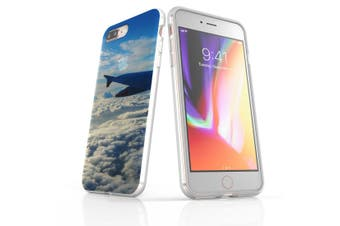 For iPhone 7 Plus Case Clear Soft Shockproof Protective Cover Sky Plane