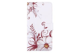 For iPhone 8 PLUS,7 PLUS Wallet Case,Flower Buds Durable Shielding Leather Cover