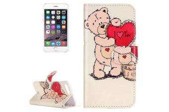 For iPhone 8 PLUS,7 PLUS Wallet Case,Love Expressing Durable Leather Cover