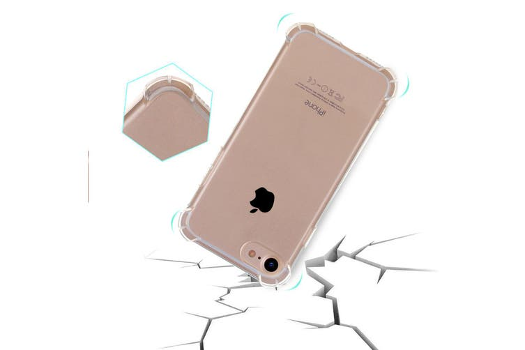 For iPhone 8 PLUS,7 PLUS Case,Shockproof Grippy Transparent Protective Cover