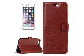 For iPhone 8 PLUS,7 PLUS Wallet Case,Modern Horse Texture Leather Cover,Brown