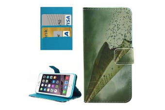 For iPhone 8 PLUS,7 PLUS Wallet Case,Paper Airplane Protective Leather Cover