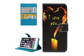 For iPhone 8 PLUS,7 PLUS Wallet Case,Love Candle Durable Shielding Leather Cover