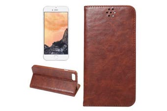 For iPhone 8 PLUS,7 PLUS Wallet Case,Elegant Horse Texture Leather Cover,Coffee