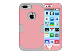 For iPhone 8 PLUS,7 PLUS Case,Stylish Triple Layer Armour Protective Cover,Pink