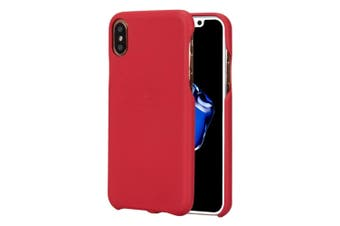 For iPhone XS,X Case,Elegant Lychee Texture Skin Durable Protective Cover,Red