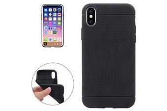 For iPhone XS,X Case,Modern Honeycomb High-Quality Durable Shielding Cover,Black