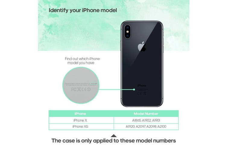 For iPhone XS,X Back Case,Slim Horse Texture Durable Protective Cover,Black