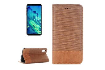 For iPhone XS,X Wallet Case,Toothpick Textured Durable Leather Cover,Brown