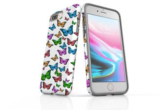 For iPhone 8 Plus Case, Protective Back Cover, Butterflies
