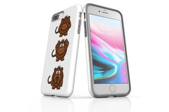 For iPhone 8 Plus Shielding Back Case, Monkeys