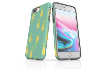 For iPhone 8 Plus Shielding Back Case, Pastel Pineapple