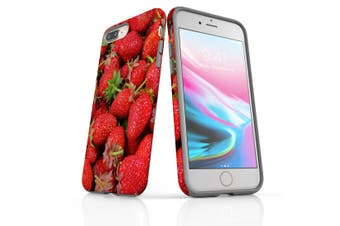 For iPhone 8 Plus Shielding Back Case, Strawberries