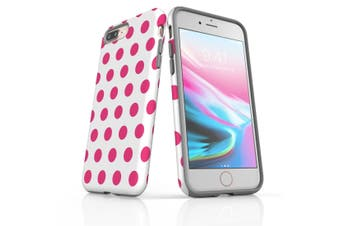 For iPhone 8 Plus Protective Case Unique Phone Cover, Pink Polka Dots