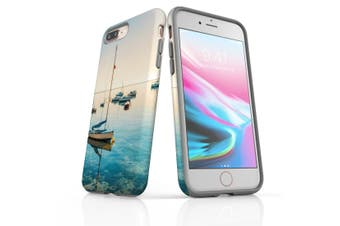 For iPhone 8 Plus Protective Case Unique Phone Cover, Sailboats