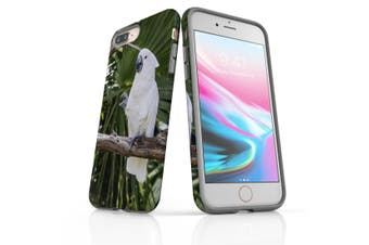 For iPhone 8 Plus Case, Protective Back Cover, Cockatoo