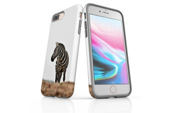 For iPhone 8 Plus Case, Protective Back Cover, Zebra