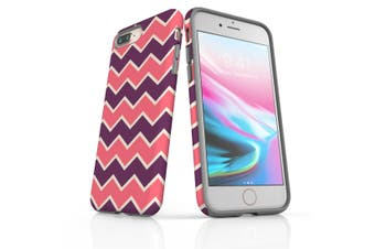 For iPhone 8/7 Plus Protective Case, Zigzag Pink Purple