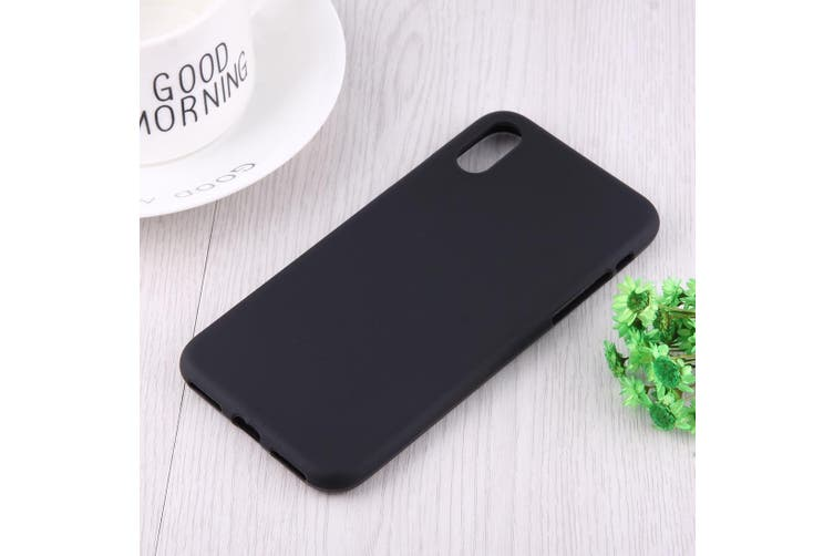 For iPhone XS,X Case Black Frosted Solid Colour TPU Back Cover Cover