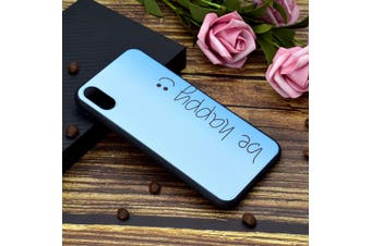 For iPhone XS Max Cover,Thin Protective Back Shell Mobile Phone Case,Be Happy