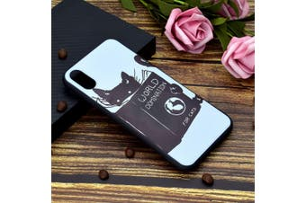 For iPhone XS Max Cover,Thin Protective Back Shell Mobile Phone Case,Black Cat