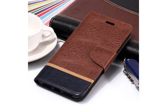 For iPhone XS Max Cover,Crocodile Texture Folio Leather Mobile Phone Case,Brown