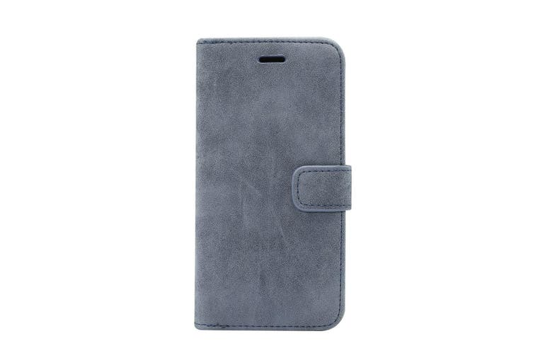 For iPhone XS MAX Cover Leather Wallet Sheep Flip Case 3 Card Slots Dark Blue