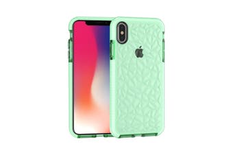 For iPhone XS MAX Cover,Diamond Textured Thin Shockproof Mobile Phone Case,Green