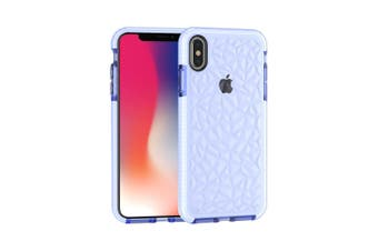 For iPhone XS MAX Cover,Diamond Textured Thin Shockproof Mobile Phone Case,Blue