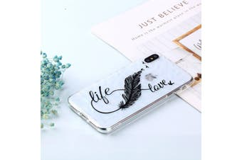 For iPhone XS MAX Cover,Shockproof Slim Thin Soft Mobile Phone Case,Life,Love