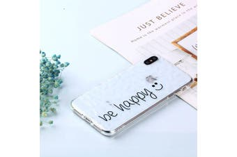For iPhone XS MAX Cover,Shockproof Slim Thin Soft Mobile Phone Case,Be Happy
