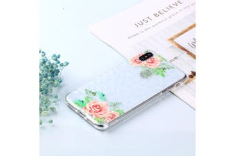 For iPhone XS MAX Cover,Shockproof Slim Thin Soft Mobile Phone Case,Green Leaf