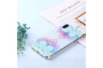 For iPhone XS MAX Cover,Shockproof Slim Thin Soft Mobile Phone Case,Blue Leaves