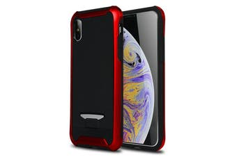 For iPhone XS Max Cover,Bumblebee Thin Granule Textured Protective Back Case,Red