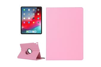 For iPad Pro 11 Inch (2018) Case,Lychee Texture PU Leather Folio Cover,Pink