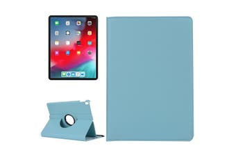 For iPad Pro 12.9 Inch 2018 Case Lychee Texture PU Leather Folio Cover Baby Blue