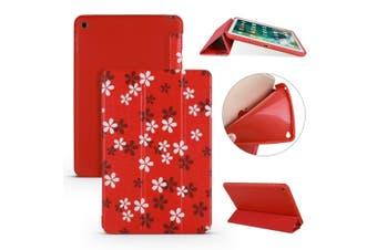 For iPad mini 5 (2019) Case,Folio PU Leather + TPU 3-fold Holder Cover,Sakura