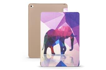 For iPad mini 5 (2019) Case,Folio PU Leather + TPU 3-fold Holder Cover,Elephant