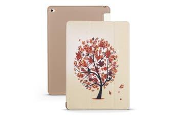 For iPad mini 5 (2019) Case,Folio PU Leather + TPU 3-fold Holder Cover,Maple