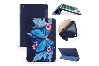For iPad mini 5 (2019) Case,Folio PU Leather + TPU 3-folding Cover,Butterflies