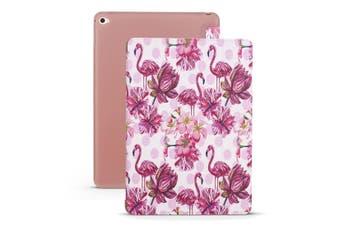 For iPad mini 5 (2019) Case,Folio PU Leather + TPU 3-fold Holder Cover,Flamingo