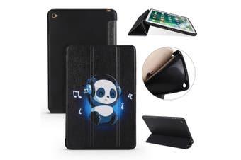 For iPad mini 5 (2019) Case,Folio PU Leather+TPU 3-folding Cover,Panda's Harmony