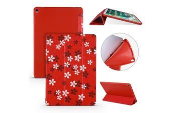 For iPad Air 3 (2019) Case Folio PU Leather + TPU 3-fold Holder Cover Sakura