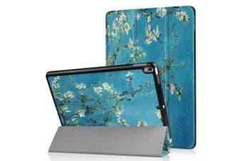For iPad Air 3 (2019) Case,Folio PU Leather 3-folding Sleep/Wake Cover,Prunus