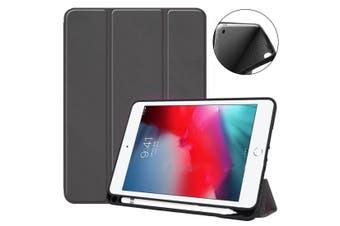 For iPad mini 5 (2019) Case Smart PU Leather + TPU Shockproof Folio Cover Black