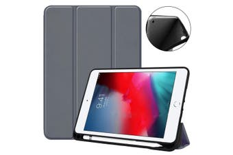 For iPad mini 5 (2019) Case,Smart PU Leather + TPU Shockproof Folio Cover,Grey