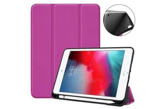 For iPad mini 5 (2019) Case,Smart PU Leather + TPU Shockproof Folio Cover,Purple